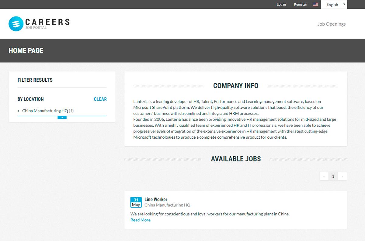 Career Sites Management by Lanteria HR