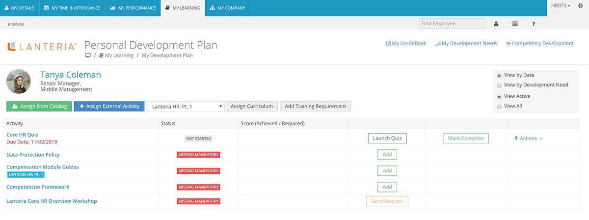 Employee Development Plan by Lanteria HR