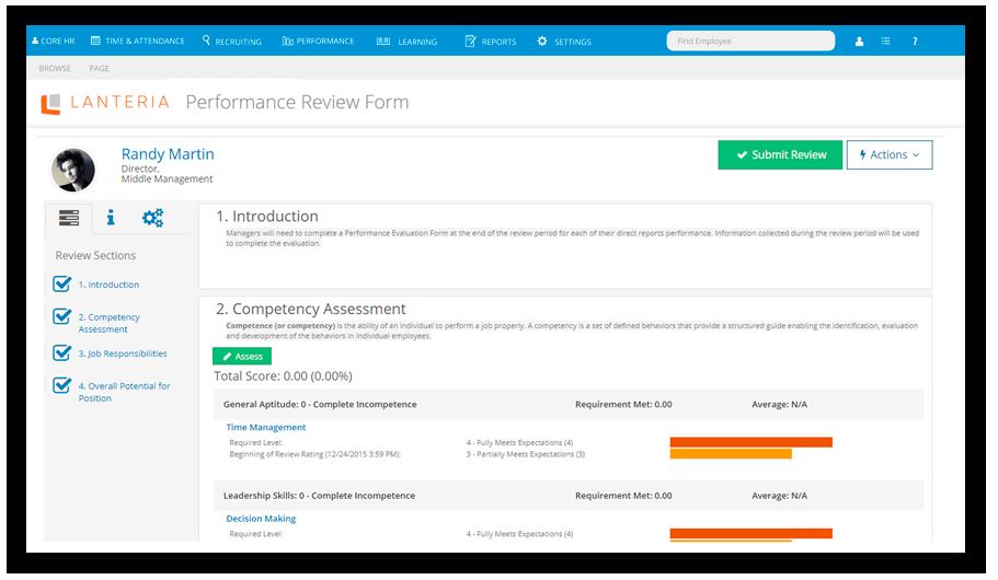 Manage Employee Performance