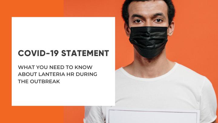 Lanteria HR statement regarding COVID-19 outbreak